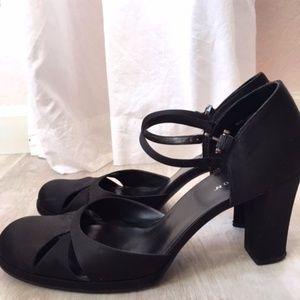 Satin evening shoes